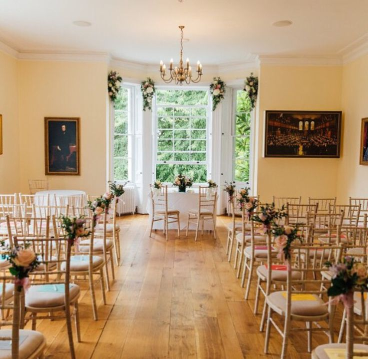 Russell Suite ceremony with hired Chivari chairs