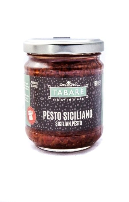Red Sicilian Pesto. Very adaptable product used for appetizers, first courses and meat second courses. To spice up your pasta or original and delicious bruschettas. Try it also as dressing for white meat (chicken, fish, wild game meat).