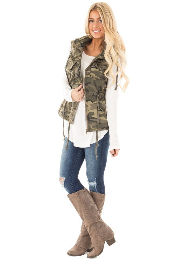 Lime Lush Boutique - Camouflage Cargo Vest with Hood and Drawstring, $44.99 (https://www.limelush.com/camouflage-cargo-vest-with-hood-and-drawstring/)