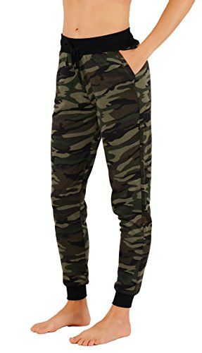 1b212f95cfa1f9 Vibrant Vixen Women's Print Work Out Joggers Jersey Pocket Fashion Sweat  Pant Functional Drawstring