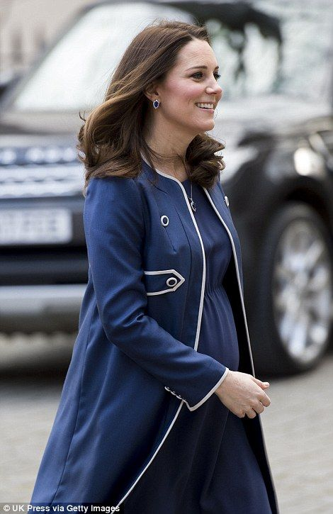 Kate, who is seven months pregnant, is visiting the Royal College of Obstetricians and Gynaecologists - hours after Kensington Palace announced she had become their new patron.