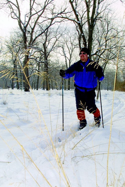 Walnut Woods State Park near Des Moines is great for cross-country skiing.  #Iowa #winter #ski