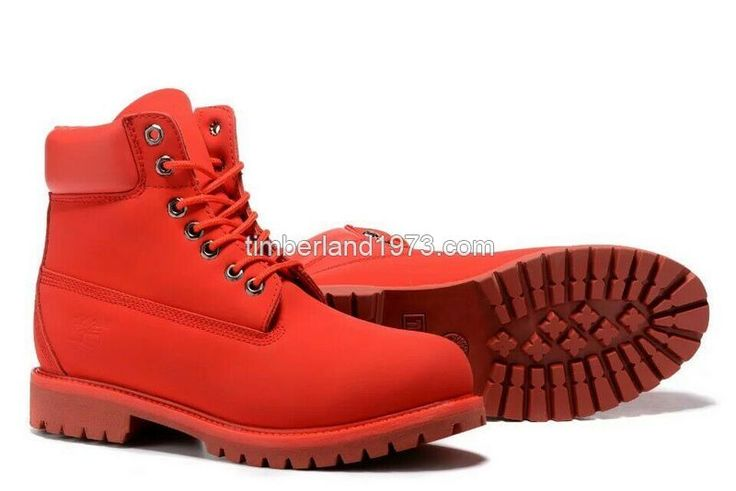 Fashion New Timberland Fashion Red 6 Inch Premium Boot For Men's On Sale $ 78.00