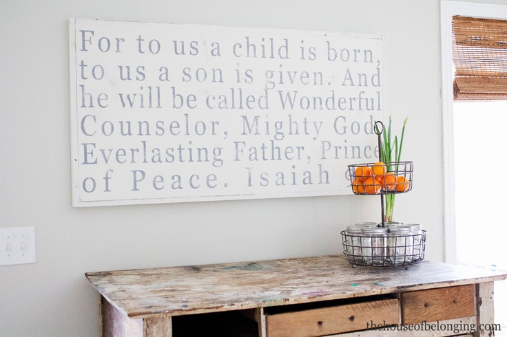 Wonderful Counselor Hand Painted Sign by TheHouseofBelonging