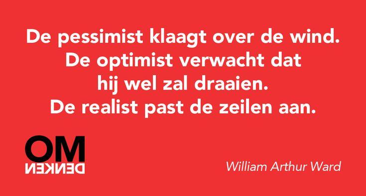 Pessimist, optimist of realist?