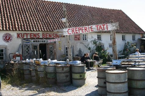 Kutens Bensin café The best crêperie you can imagine! at beautiful island of Fårö/Gotland/Sweden