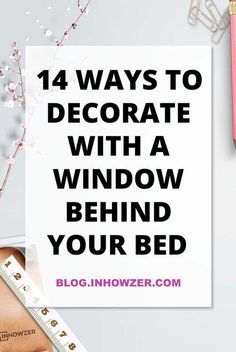 14 ways to decorate with a window behind your bed. You can make your bedroom look great, even with a window behind your bed. there a lots of options to either accentuate the window or hide it. i will show you how you can decorate your bedroom with lots of practical and stylish solutions to choose from.