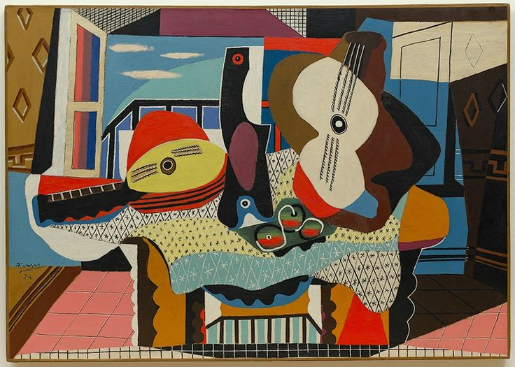 Pablo Picasso, Mandolin and Guitar (Mandoline et guitar), 1924. Oil with sand on…