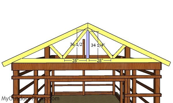 16x24 Pole Barn Roof Plans Myoutdoorplans Free Woodworking Plans And Projects Diy Shed Wooden Playhouse Pergo Pole Barn Barn Roof Woodworking Plans Free