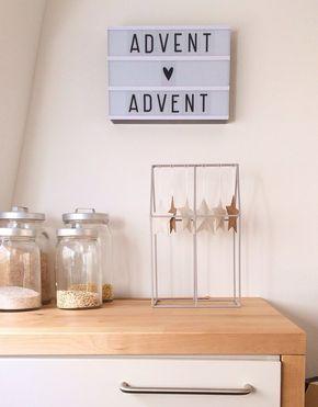 Die besten 25 moderne weihnachtsdekoration ideen auf pinterest moderne weihnachten einfache - Leuchtschrift wand ...