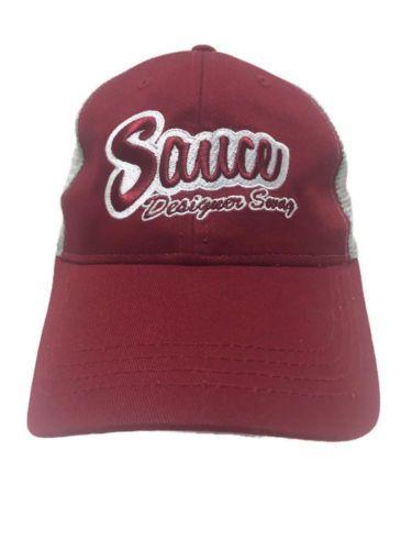 0d5479bf2df Sauce Hockey Designer Swag Hat Mesh Trucker Snapback Red White ...