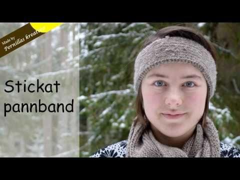 Stickat Pannband - YouTube