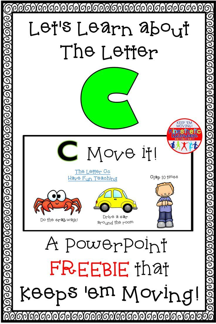 Alphabet Activity Letter Sounds Powerpoint The Letter C Letter Sounds Have Fun Teaching Lettering