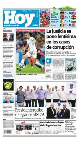 Periodico hoy 27 de junio2014