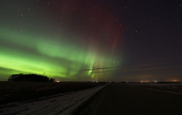 Saskatoon, Saskatchewan, Canada. Northern lights