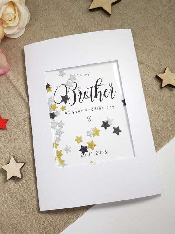 To My Brother On Your Wedding Day Card For