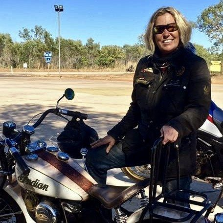 Julie Jasper is circumnavigating Australia on a 1942 Indian Scout to raise awareness and funds for child survivors of domestic violence.  She calls this The Silent Tour a tour that is taking many thousands of miles on a motorbike initially designed for battle in WWII now riding for a peaceful cause raising awareness around the damaging effects complex trauma has on humanity. Read her story today! Click the link in our profile at http://ift.tt/2lHgMmj  #womenadvriders #thesilenttour #charity…