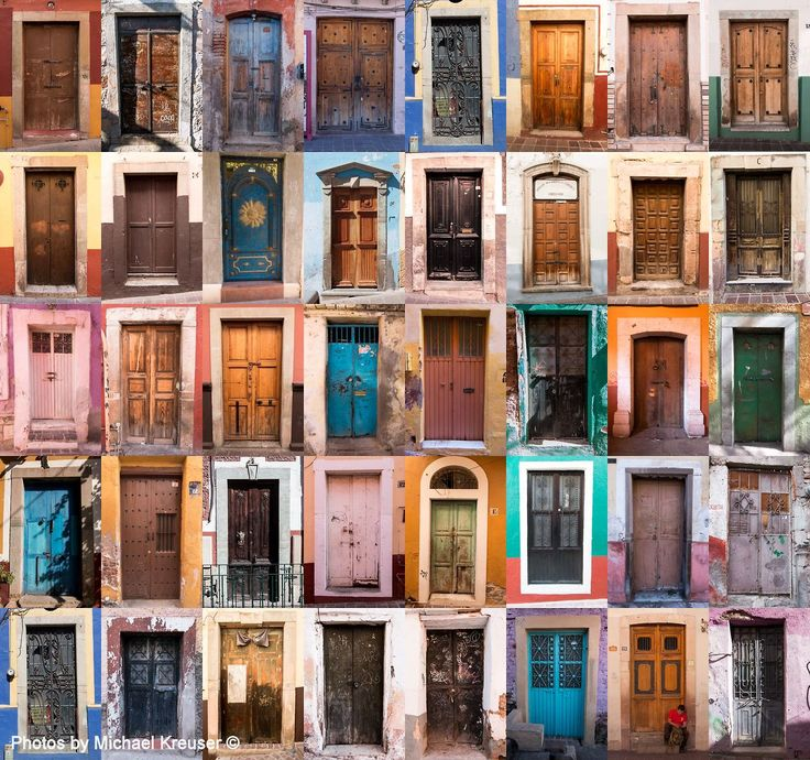 Typology of doors in Guanajuato, Mexico. Photography by Michael Kreuser.