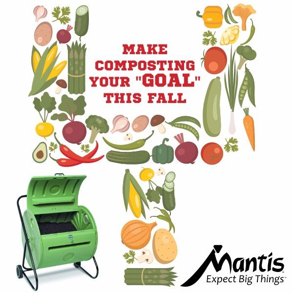 A fast way to score lots of compost for plants and lawns is to make it in a Mantis ComposTumbler. Super Sale going on now. Save up to $130 and get a free gift, too.