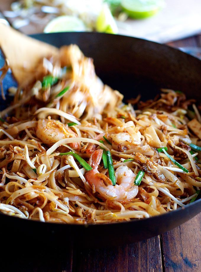 Shrimp Pad Thai - choose from 2 recipes! An everyday home version OR a real restaurant recipe, from the critically acclaimed Spice I Am.