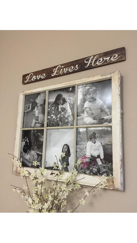 Love Lives Here custom distressed wood sign