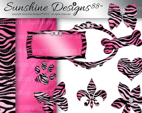 Zebra Frame Icons Scrapbook Kit Digital by SunshineDesigns88, $5.98