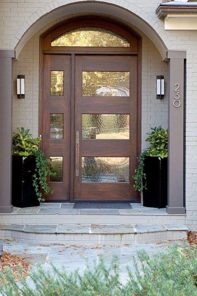 40 Farmhouse Door Design For Decorating Your House Rengusuk Com Modern Exterior Doors Contemporary Front Doors Modern Entrance Door