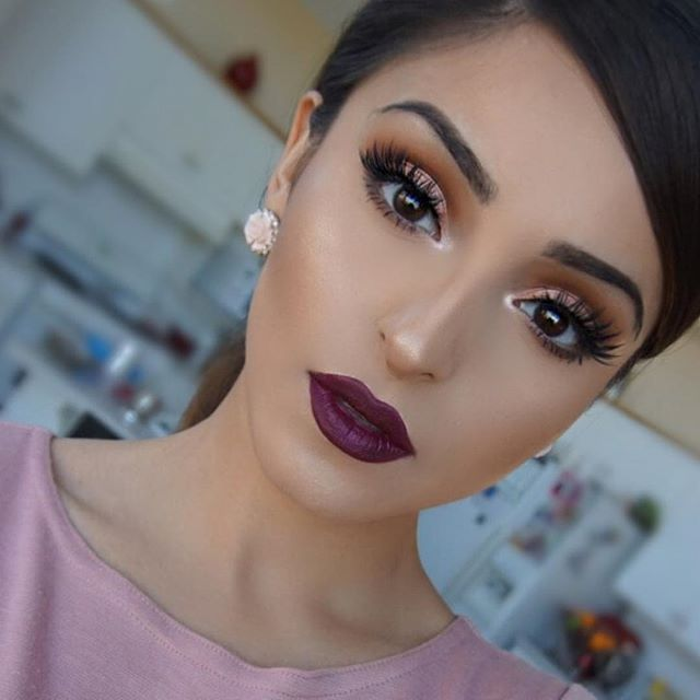 Gorgeous @rahmanbeauty this look was partially inspired by the beautiful @amrezy   Makeup details: @anastasiabeverlyhills ebony dipbrow, sad girl liquid lipstick, powder contour kit @morphebrushes 35O palette @houseoflashes iconic lashes @mikasabeauty brushes