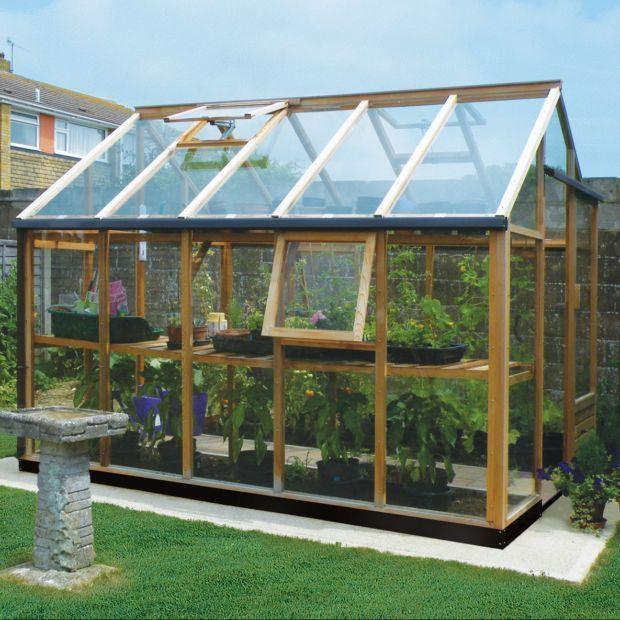 Serre de jardin en bois et verre trempé Vintage 7.20 m² hors ...