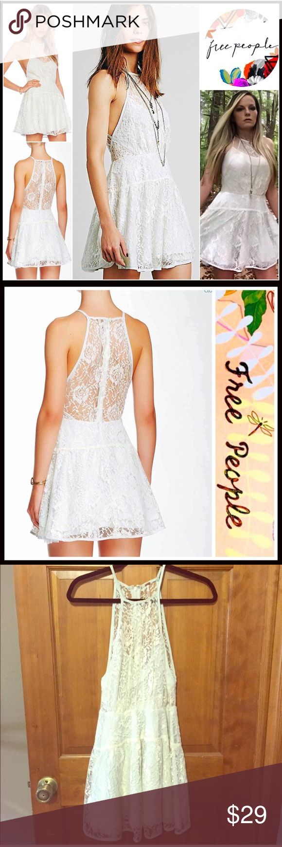 Free People White Lace Dress 0 XS Free People Dress - too big for my daughter. Re-Posh, never worn by her. Free People Dresses Mini