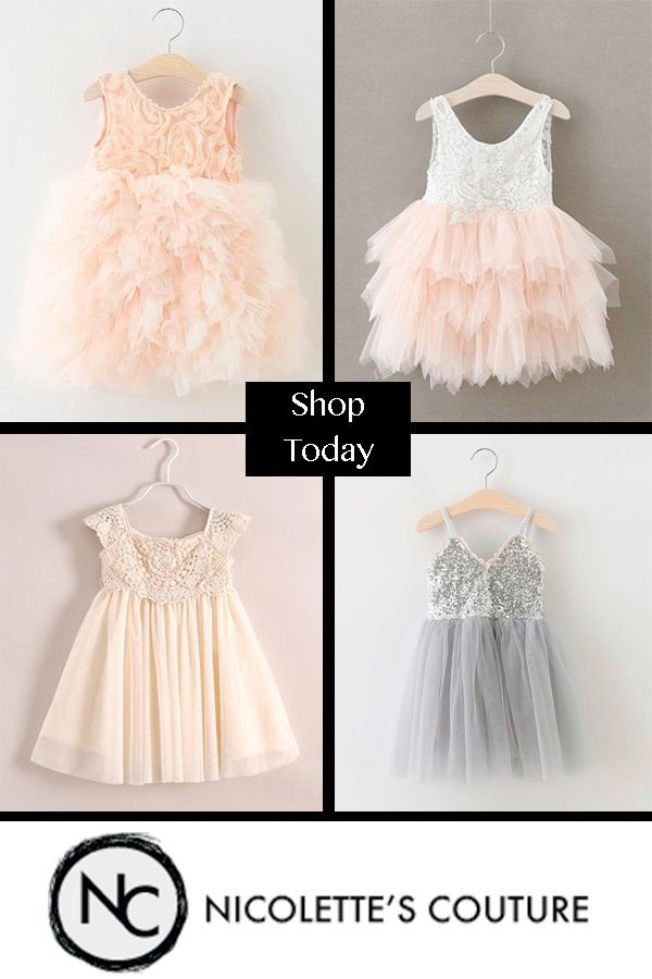 686f86f27 Stunning Couture Style Special Occasion Dresses. Your little princess will  be the most fashionable girl at the wedding. Our chic styles are perfect  for ...