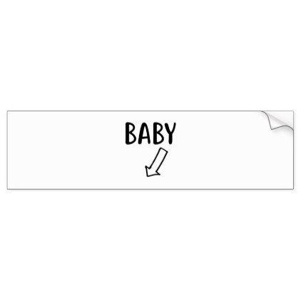 Baby Bumper Sticker - kids stickers gift idea diy decor birthday sticker children christmas gifts presents