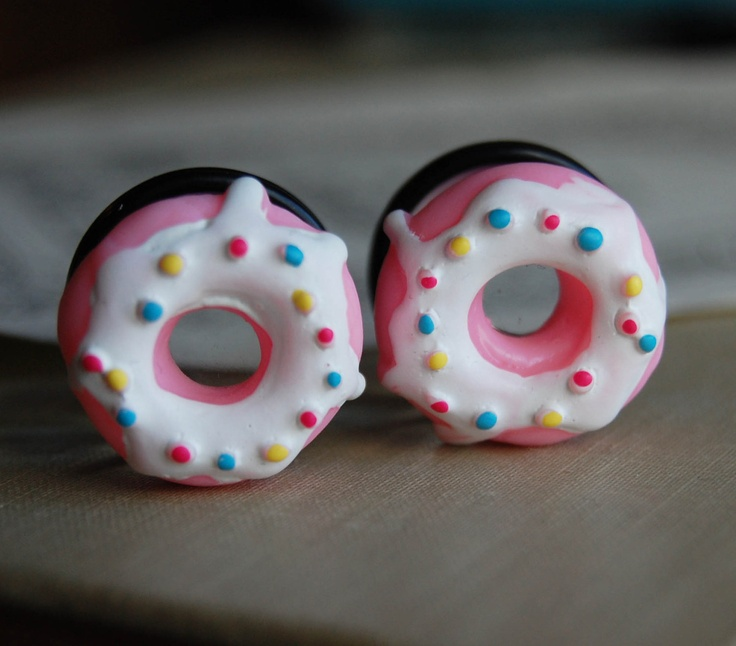 "3/4"" (20mm) Doughnut Plugs for stretched ears.Donuts for your holes.. $24.00, via Etsy."