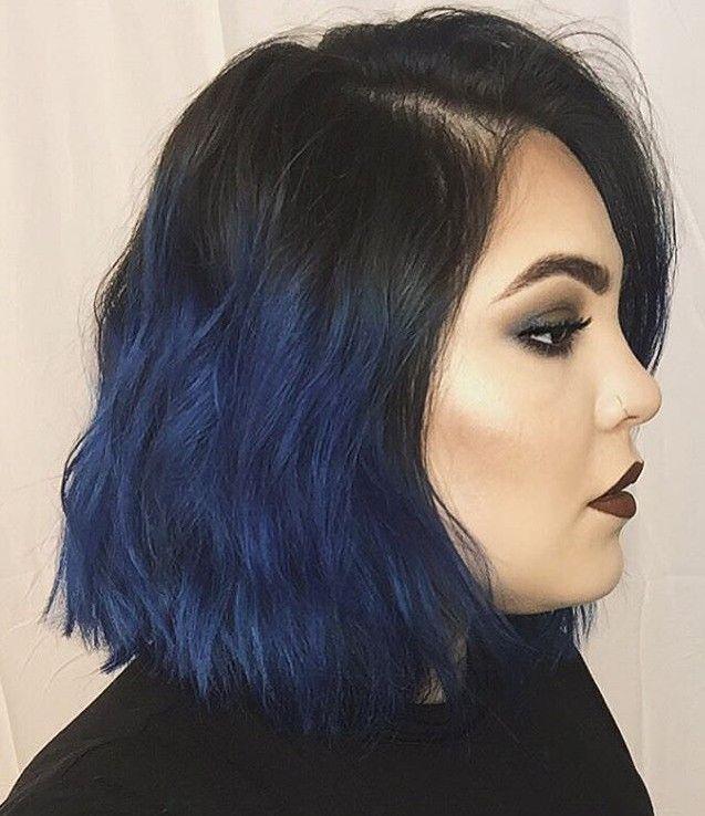 Mavi Gölgeli Küt Saç Modeli