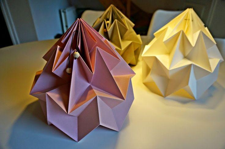 Origami lampeskærme