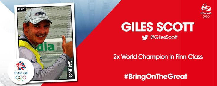 Sailor Giles Scott is off to Rio 2016 with Team GB!