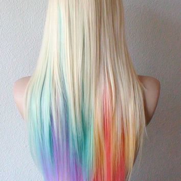 pastel high;lights on blonde hair                                                                                                                                                      More
