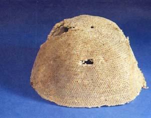 Tejido Guane,   Gorro de algodón elaborado en técnica de enrollado