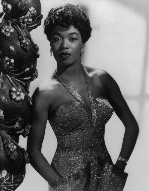 """Sarah Vaughan, c.1949  """"When I sing, trouble can sit right on my shoulder and I don't even notice.""""  Sarah Vaughan"""