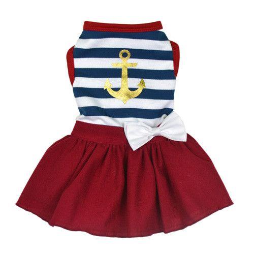 Luxe Sailor Girl Dog Dress