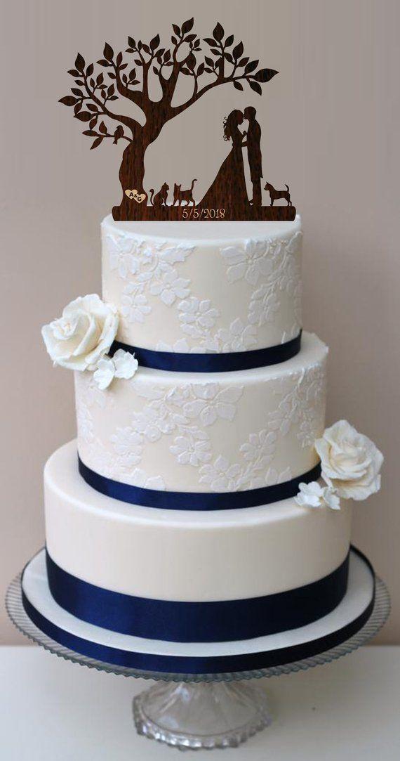 Wedding Acrylic Cake Decoration Mr and Mrs Funny Fishing Personalised Topper.848