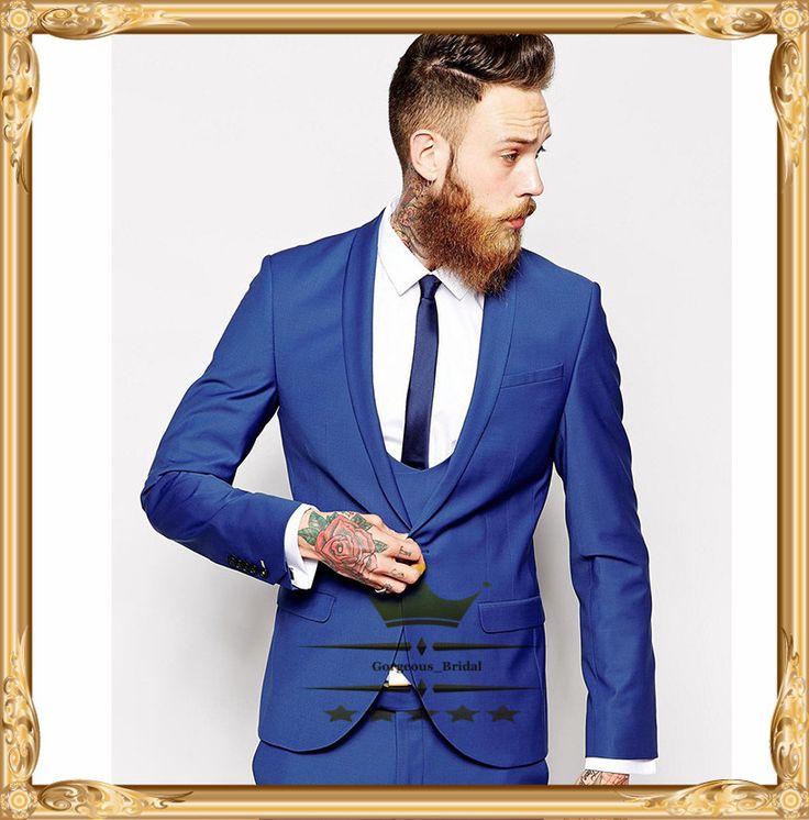 Las 25 mejores ideas sobre traje de novio azul marino en pinterest trajes azul marino de - Costume bleu electrique ...