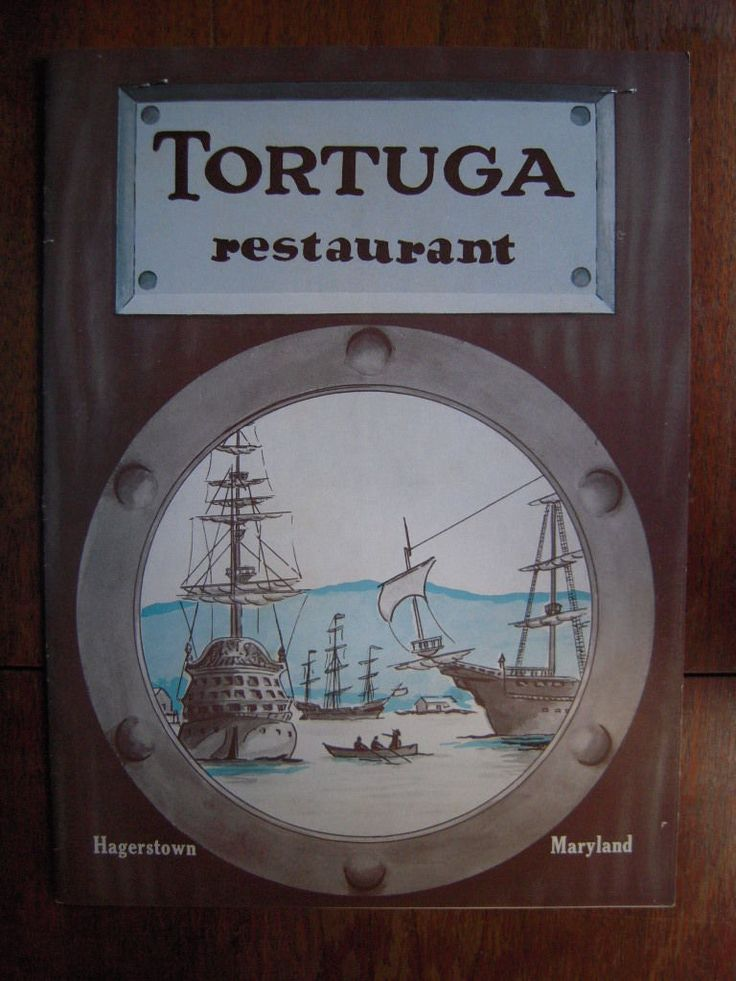 Tortuga Restaurant Hagerstown Maryland MD Vintage MENU 1957 | eBay
