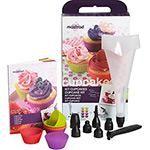 Kit para Cupcakes com 8 Formas, Bico Dosador e 6 Moldes Mastrad Multicolor