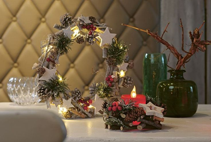 elektrische Kerze und Kranz / electric candle and wreath | Hellum | Christmasworld 2016 | TOP FAIR Blog