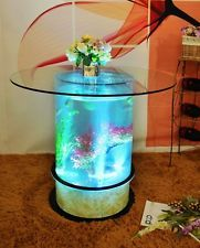 Buy Fish Tank Coffee Table | Aquarium Water Fish Tank Glass Top Coffee Table