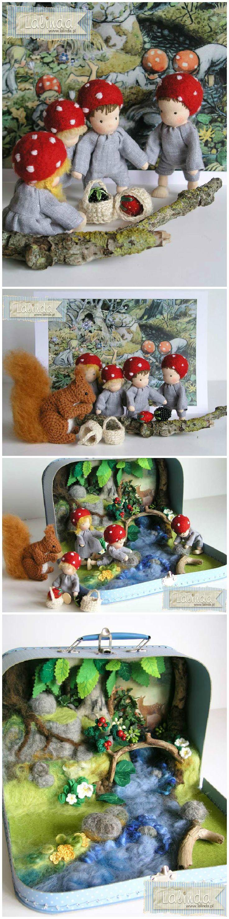 Children of the forest Elsa Beskow play set felt absolutely gorgeous