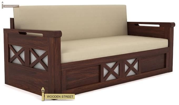 Medway Convertible Couch (Walnut Finish)-3