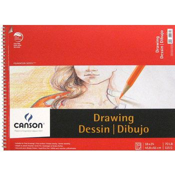 """Canson 18"""" x 24"""" Foundation Series Drawing Pad"""