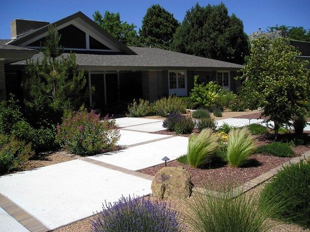 best 25 modern front yard ideas on pinterest mid century landscaping large house numbers and front yard fence - Modern Front Yard Garden Ideas